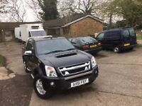 isuzu rodeo den-max+td d/c.2012.air con.one owner.service history.leather.tow bar