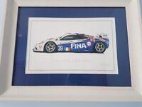 McLaren BMW F1 GTR Le Mans - Limited Edition Classic Care Print Steve Dunn with Frame
