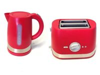 NEW CHERRY RED CORDLESS ELECTRIC JUG KETTLE 1.5 LITRE & 2 SLICE TOASTER BUNDLE £16.99