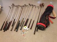 Set of Golf Clubs 18 Clubs in Golf Bag + Some Golf Balls/Tees for sale  London