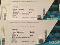 Two tickets for RSC Hamlet at The Lowry
