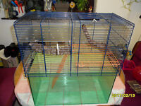 3 diffrent sized gerbil cages