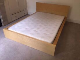 Comfortable Double bed with Mattress included for sale