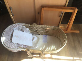 Newborn Baby Moses Basket with Rocking stand