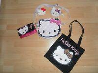 Hello Kitty Bundle.Hat, Scarf,Gloves BNWT. 4 bags, 2 purses, make up bag, 2 Puzzleballs, etc