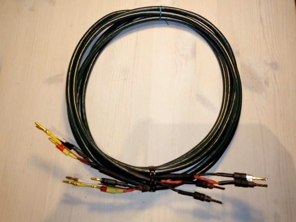 talk sc2 2 solid-core speaker cables, 2 x 3m, bi-wired terminated pair