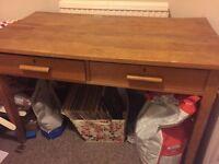 Large old school desk