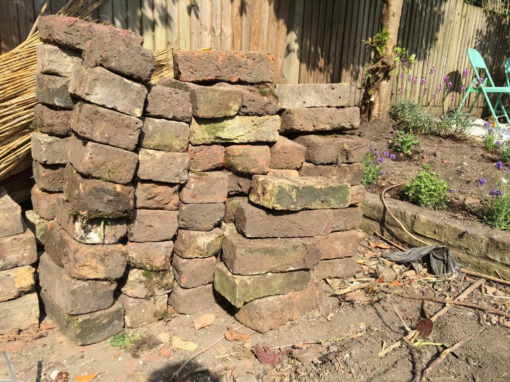 FREE red bricks for edging garden path retaining wall beds etc | in