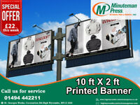 OMG!!! Special offer 10ft x 2ft Printed Banner only £22!!!