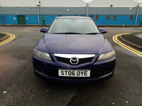 2006 MAZDA 6 2.0 DIESEL-11 MNTHS MOT-2 KEYS-5 DOORS-LOW MILEAGE-GOOD CONDITION INSIDE & OUT-NICE CAR