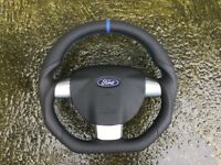 FORD FOCUS ST RS GHIA ZETEC SPORT FUSION NEW CUSTOM MADE STEERING WHEEL