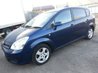 07 TOYOTA corolla VERSO DIESEL . 7 SEATER ((BARGAIN))