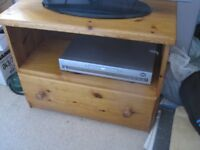 Pine TV and DVD/Video unit with drawer