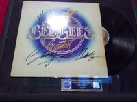 Bee Gees autographed vinyl album in frame