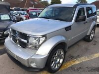 2008/08 DODGE NITRO 2.8 CRD SXT AUTO,SILVER,LOW MILEAGE,SERVICE HISTORY,STUNNING LOOKS+DRIVES WELL