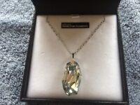 Swarovski elements silver necklace