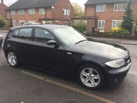 Black BMW 1 Series. Reliable. Economical. Good condition. Clean throughout.
