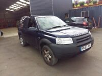 breaking blue freelander TD4 swb 4x4 parts spares turbo diesel manual