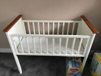 Great condition babies first crib with mattress