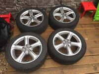 "Audi 17"" alloys and 225/50 R17 Dunlop Winter tyres"