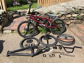 Bmx and lots of spare parts
