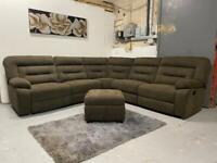 Beautiful brand new Harvey's brown corner sofa