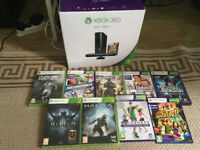 Xbox 360 + kinect + 1 controller + 9 games