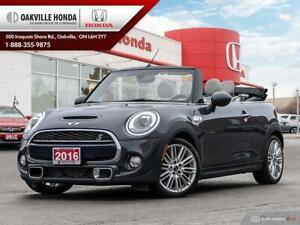 2016 Mini Cooper S Convertible Clean Carfax|Navigation|Leather|H