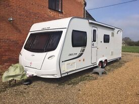 5 Berth Lunar Delta Caravan. Fantastic condition, Recently serviced, hardly used, awning included