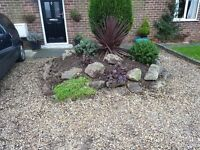 Selection of Rockery Rocks and Top Soil