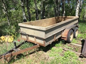 Tandem Axle utility trailer or flat deck