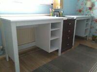 kids desks and bookshelves-tv stand