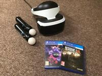 PlayStation VR Headset 2 Motion Controllers, Camera, 2 Games