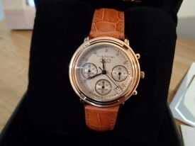 Krug Baumen 150575DL Principle Diamond Rose Gold / Tan Strap - NEW - RRP £169