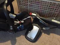 Britax BabySafe plus SHR 2 car seat&Baby Britax Isofix Base!Free mirror, all in excellent condition!