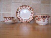 Bone china teacup/saucer, plate and slop bowl