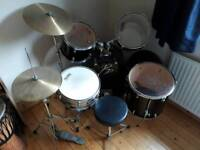 Drum kit (complete with drum sticks and sound dampening mats)