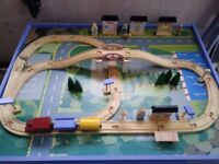 Kids Child's Play Table with wooden train set