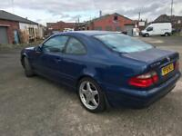 Mercedes clk 320 3.2v6 coupe auto. No mot. Runs fine. 2001. Project? Not amg
