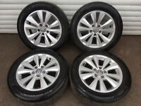 16'' GENUINE VW GOLF MK6 ALLOY WHEELS TYRES ALLOYS TORONTO JETTA GT MK5 MK7 A3 CADDY 5X112