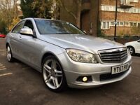 "2008 MERCEDES C220 CDI AUTOMATIC SE FSH 18""AMG ALLOYS NEW TYRES BARGAIN PX"