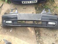 BMW black compact front bumper