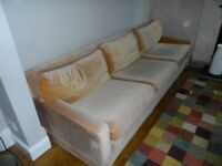 old gold sofa