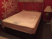 Beautiful Frame Double bed with mattress for sale No#2