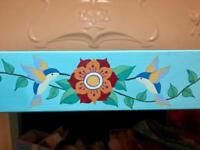 Baby changing table hand painted