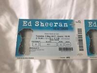 X1 seated Ed Sheeran ticket london 02 May 2nd