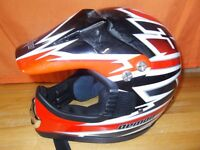 Childs Demon motocross helmet with gloves and goggles size childs medium