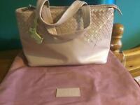 Radley pink leather handbag