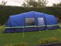 Berghaus Air 6 tent with extension & accessories