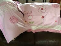 Next Lined curtains 66x72 with matching duvet